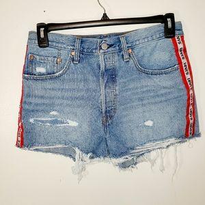 Levi's 501 booty shorts